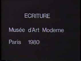 """Image 1 de performance """"écriture"""" de l'artiste Guy Lemonnier"""