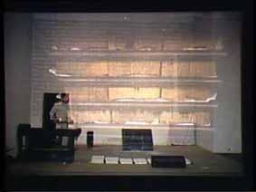 """Image 7 de performance """"écriture"""" de l'artiste Guy Lemonnier"""