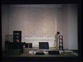 """Image 24 de performance """"écriture"""" de l'artiste Guy Lemonnier"""