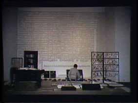 """Image 29 de performance """"écriture"""" de l'artiste Guy Lemonnier"""