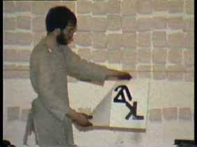 """Image 45 de performance """"écriture"""" de l'artiste Guy Lemonnier"""