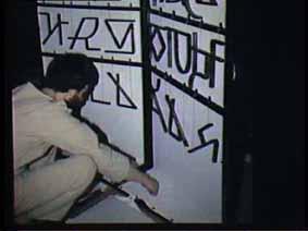 """Image 48 de performance """"écriture"""" de l'artiste Guy Lemonnier"""